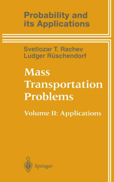 1998 Bild Mass Transportation Problems Vol. II Vorderseite