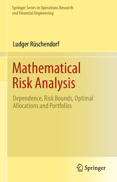 2013 Bild Mathematical Risk Analysis Vorderseite